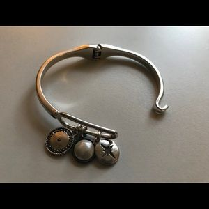 Lucky brand clasp bracelet with charms